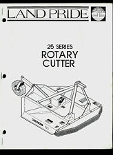 Land Pride 25 Series Rotary Cutter Original Factory Parts List Amp Owners Manual