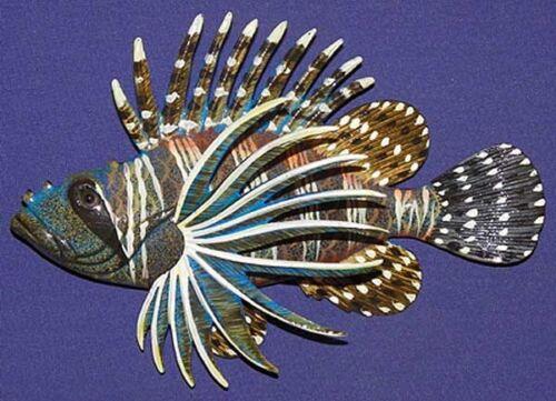 "Lion Fish Wall Plaque 6/""X4/""~ New Tropical Nautical Beach Sea life Decor"
