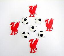 LOOSE TORTA DECORAZIONI 4 x liverbirds e 5x Palloni da Calcio Liverpool Calcio