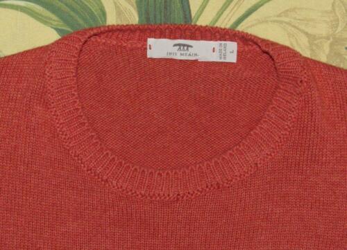 Mens INIS MEAIN Orange Cotton Cashmere Silk Crewne