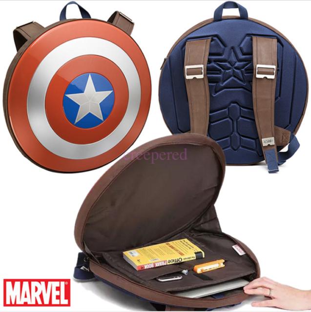 19 15 Marvel Avengers Backpack Captain America Shield School Bag Cosplay