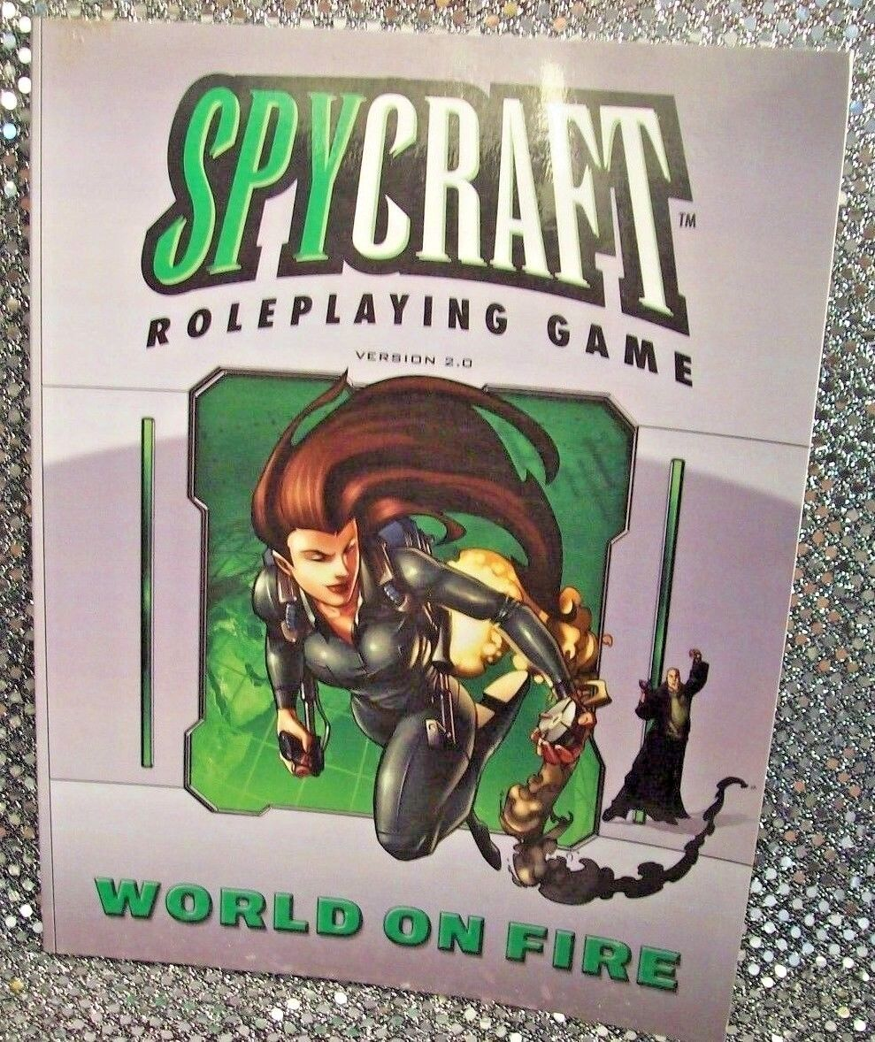 SPYCRAFT ROLEPLAYING - NM NEW (2005) AEG - FIRE ON WORLD 2 0