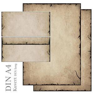 DIN A4 Format 20 Blatt Motiv-Briefpapier ANTIK