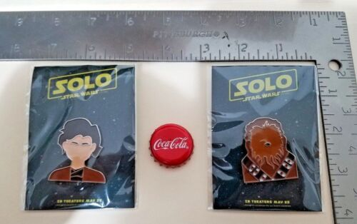 Han /& Chewbacca Promotional Pin Disney Promo SWAG Star Wars Story Solo 2018