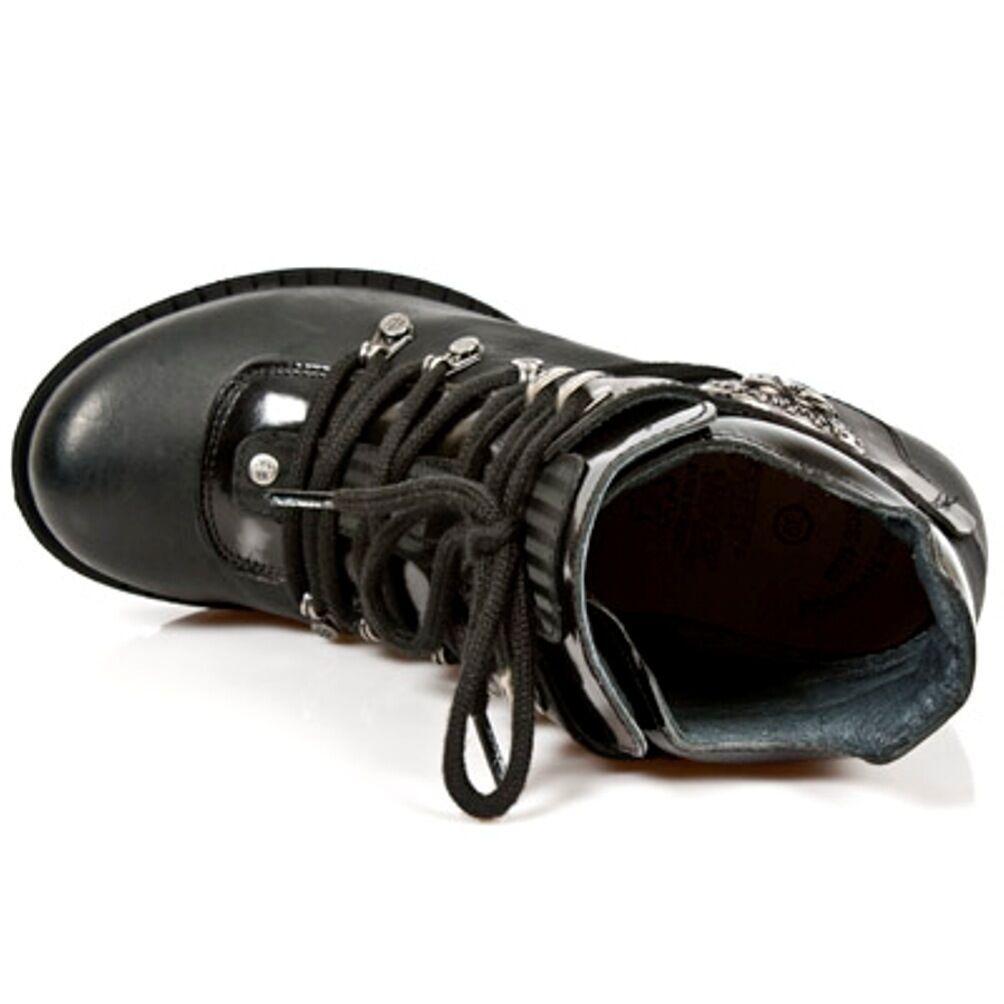 New Punk Rock Boots Donna Punk New Gothic Stivali - Style TR010 S1 Nero f04c12