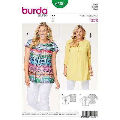 Burda Style Easy SEWING PATTERN 6550 Plus Size Blouse Sizes 20-34