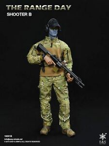 1//6 Scale Soldier Accessories Model The Range Day Shooter B Combat Uniform