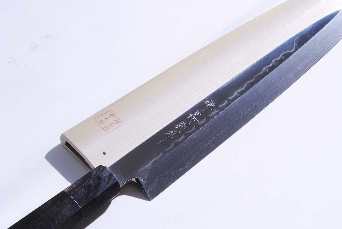 Mizu Honyaki Mirror Finished Yanagi 30cm 30cm 30cm Japanese Sushi Chef knife YOSHIHIRO 641418