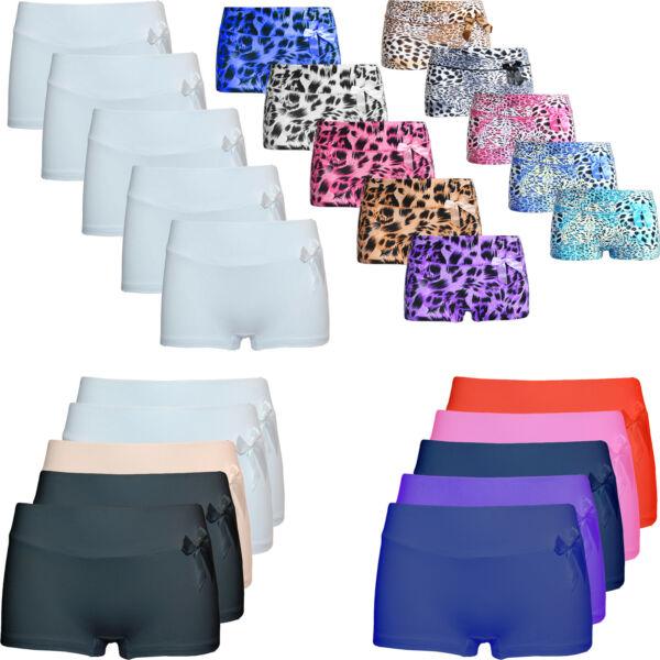 5 st. Damen Unterhose Schlüpfer Boxershorts Gepunktet mit Schleifen Niedliche