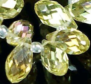 16-Sparkling-Citrine-Glass-Quartz-Faceted-Teardrop-Beads