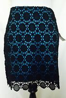 Kensie Blue And Black Lace Style Short Skirt Retails $69 Price $24.00 Size 4