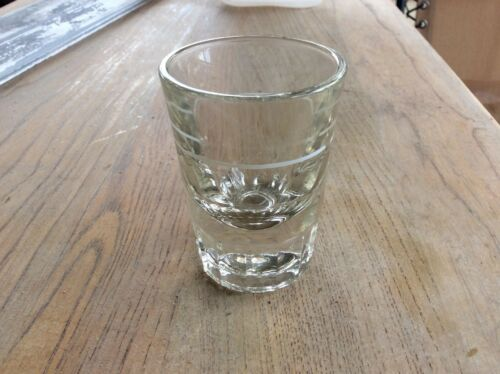 "1 Vintage Libby Shot Glass 3"" tall #33"