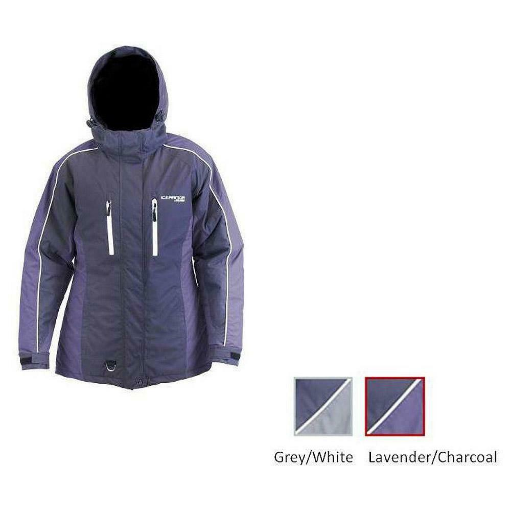 Ice Armor by Clam Womens Glacier Float Parka XXLarge (XXL LAVENDER CHARCOAL) 127