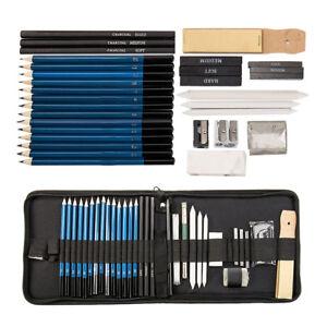 36X dibujo boceto Set carboncillo lápiz borrador arte artesanía pintura dibujo