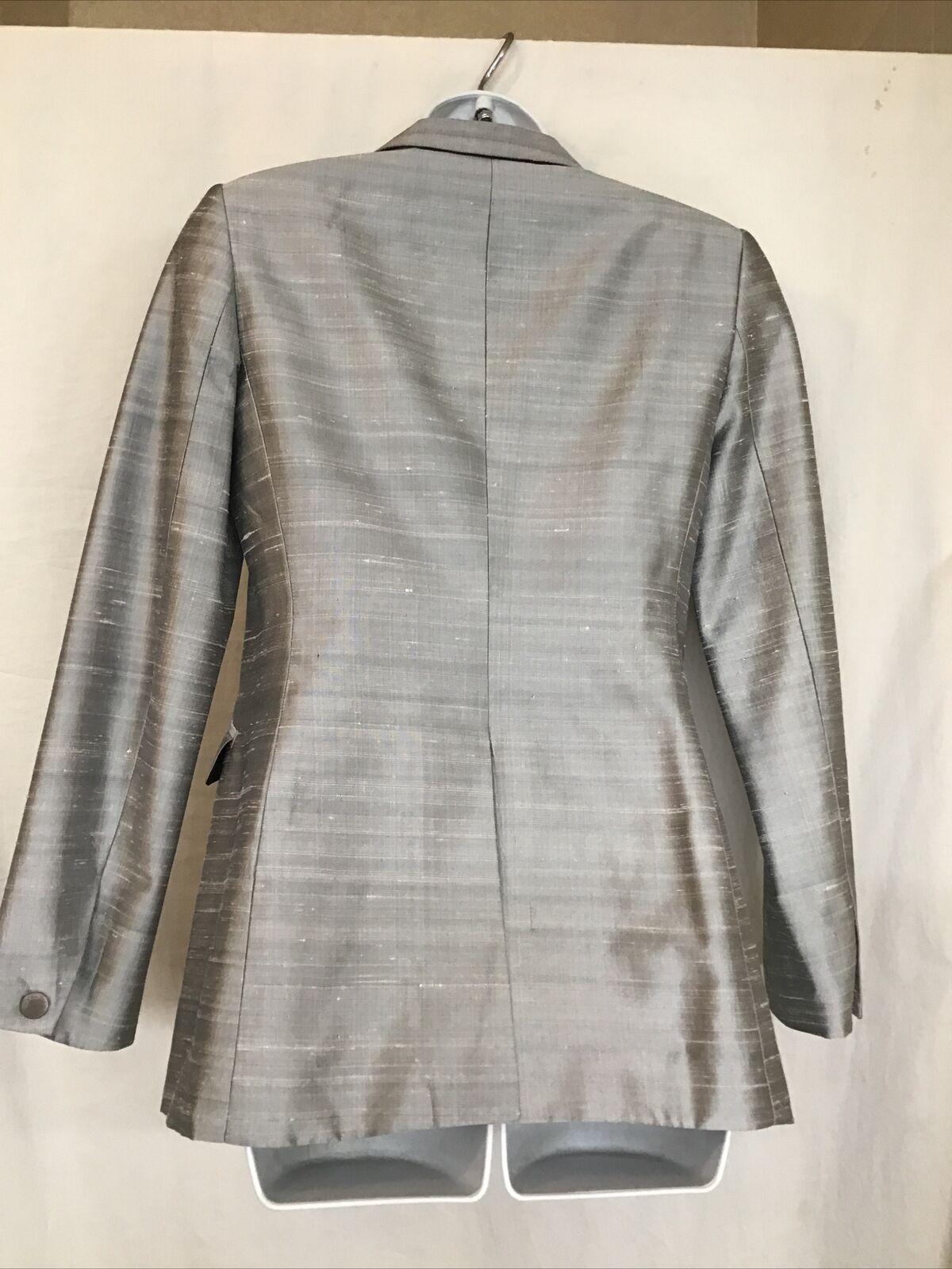 rag and bone  Suit Jacket silver gray silk peak s… - image 5