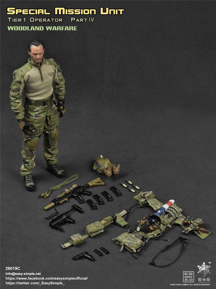 Easy&Simple ES 26019C 26019C 26019C SMU Tier-1 Special Mission Unit 1 6TH Male Action Figure 50c439