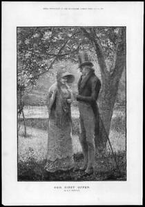 1881-FINE-ART-Antique-Print-Artist-BREWTNALL-Her-First-Offer-Young-Lady-222
