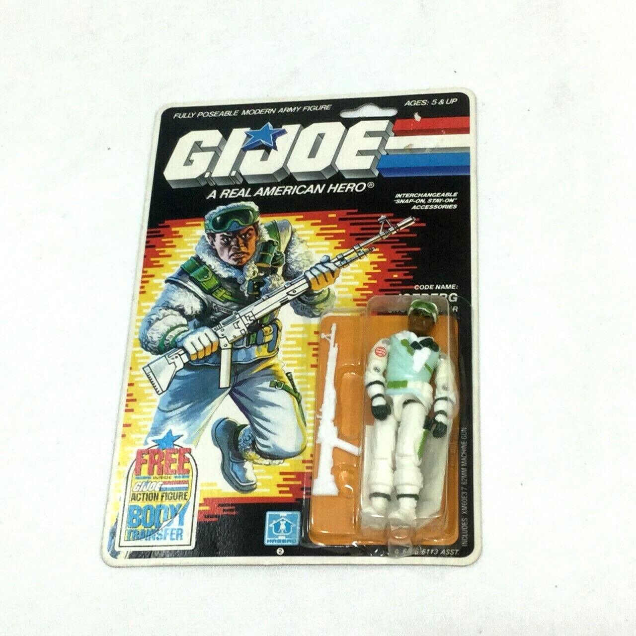 1987 Hasbro Gi Joe seperti Iceberg Snow Trooper Figura MOC Cochedada Sellado en perfecto estado en Cochetón sellado