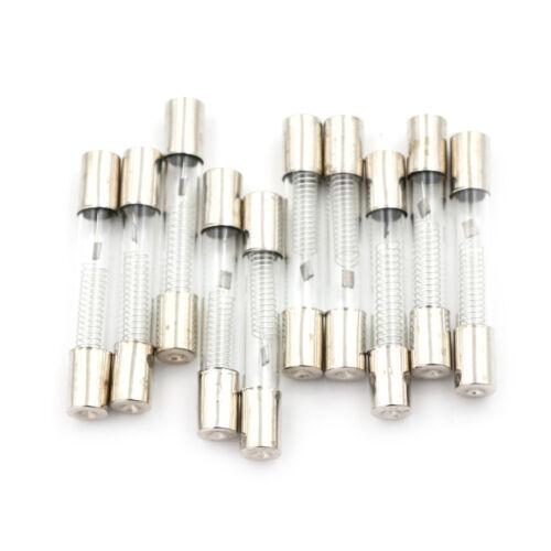 10 Stücke 6x40mm Axial Glas 900mA 0,9A 5KV Sicherungsröhren für Mikrowelle