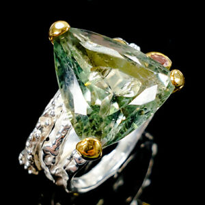 Discount-jewelry-Natural-Green-Amethyst-925-Sterling-Silver-Ring-Size-8-R110189