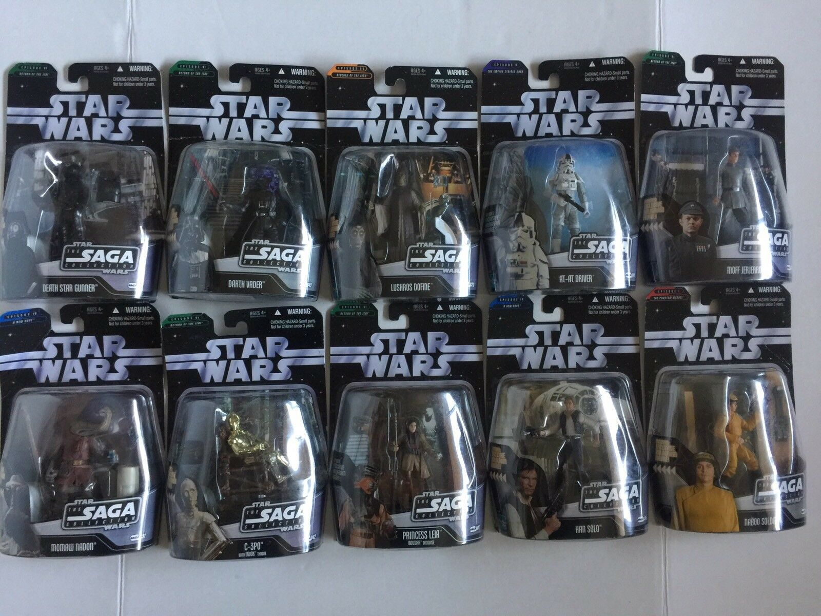 Star Wars The SAGA Collection HASBRO Action Figures Lot Of Ten