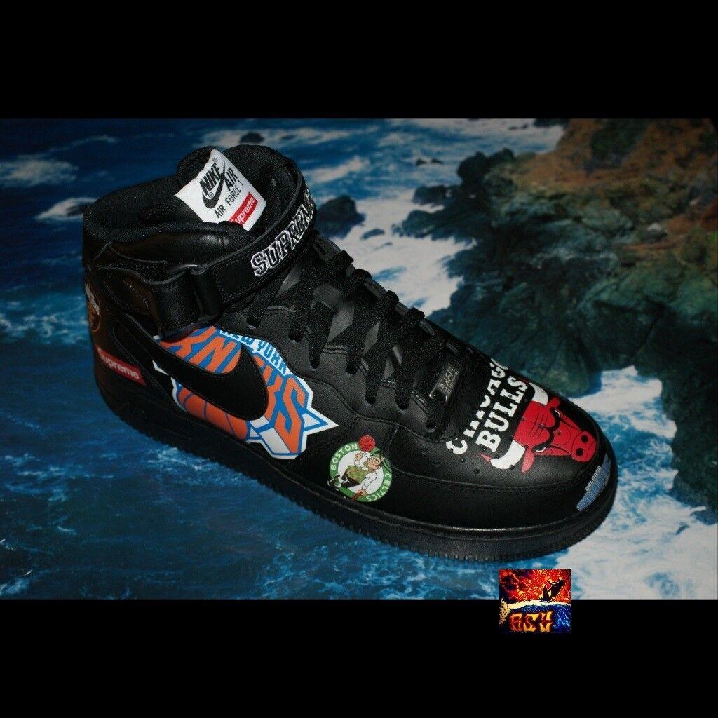Supreme x Nike x NBA Air Force 1 Mid Sz 12 BLACK DS