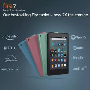 NEW Amazon Fire 7 Tablet 16 GB (9th Gen) - Black Blue Plum Sage - ALL COLORS
