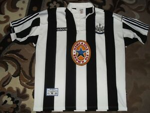 Rare-Vintage-Newcastle-United-Adidas-XL-1995-1997-HOME-Brown-Ale-shirt-jersey-95