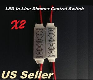 2pc Mini 12v Led Dimmer Switch Module W On Off Dimmer