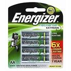 2 X 4pk Energizer Rechargeable AA NiMH 2300mah Recharge Extreme Batteries