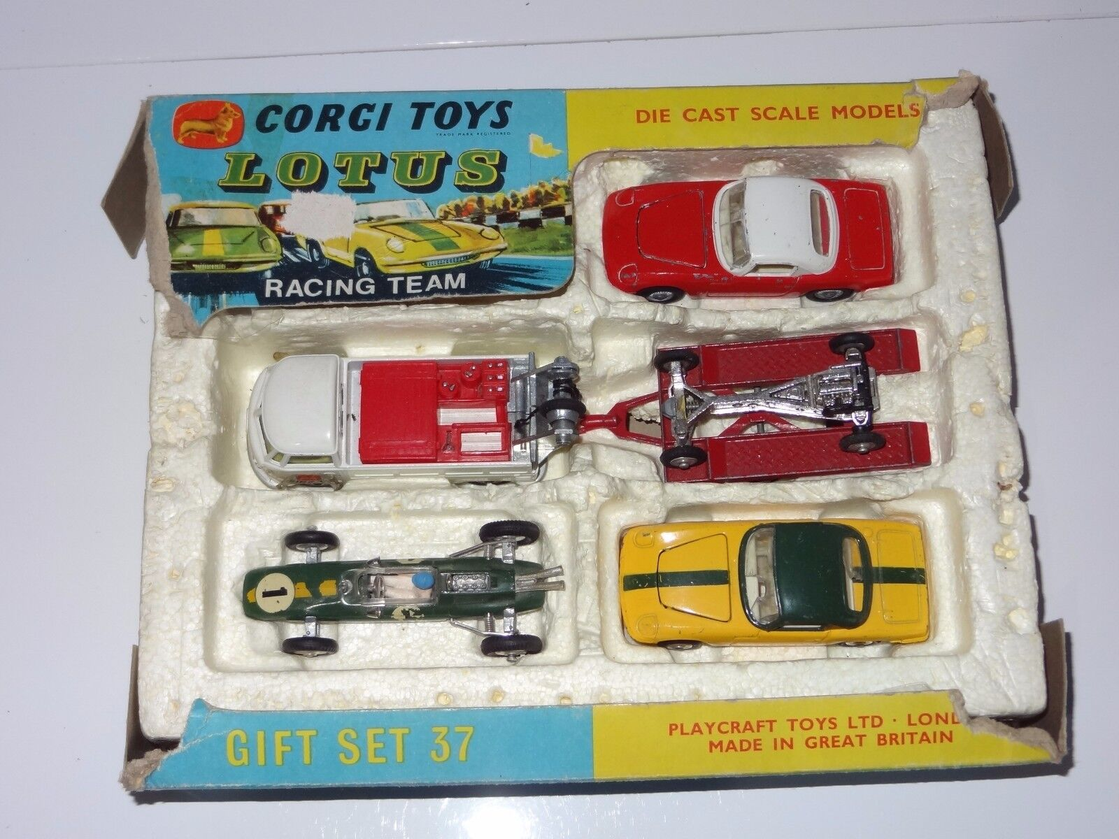 (S) corgi giftset LOTUS RACING TEAM  - GS 37