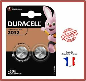 2-Piles-CR2032-DURACELL-Bouton-Lithium-3V-DL2032-DLC-2029