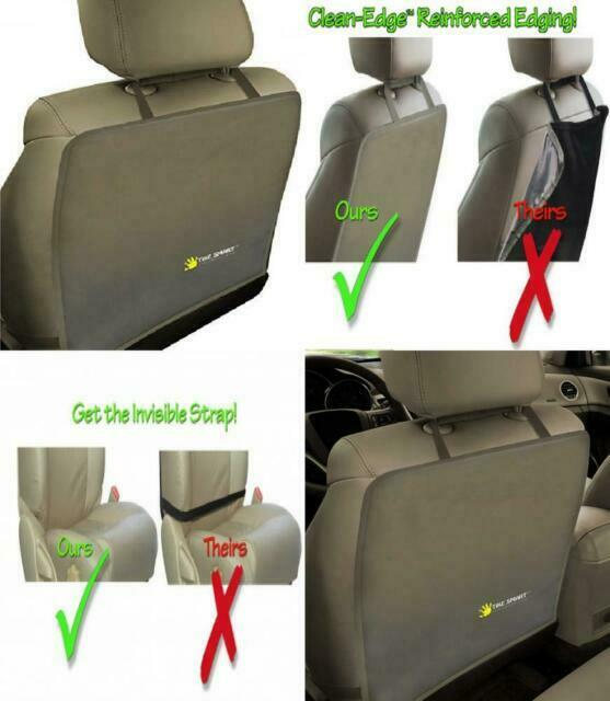 Tike Smart Luxury Clean-Edge Kick Mat Seat Back Protector and Seat Cover with