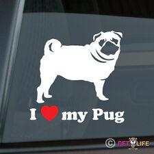I Love My Pug Sticker Die Cut Vinyl