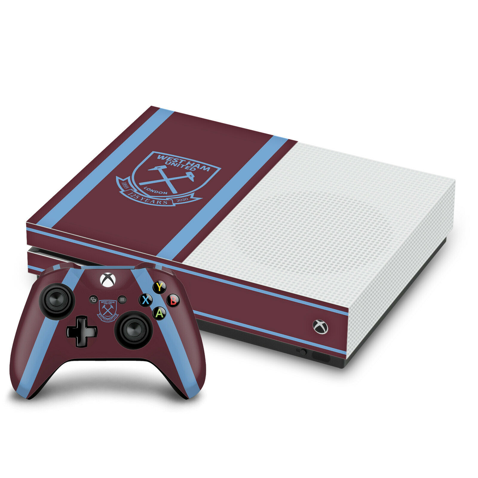 WEST HAM UNITED FC 2020/21 HOME KIT SKIN DECAL FOR ONE S CONSOLE & CONTROLLER