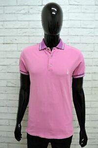 Polo-REFRIGUE-Uomo-Taglia-Size-M-Maglia-Maglietta-Camicia-Shirt-Man-Cotone-Viola