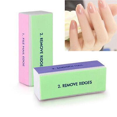 5 x Nail Art Manicure Nail Shiner Buffer Buffing Sanding Block Pedicure Tool Kit