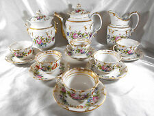 SERVICE CAFÉ / THÉ 6 PERSONNES PORCELAINE DE PARIS LOUIS PHILIPPE XIX ème 1830