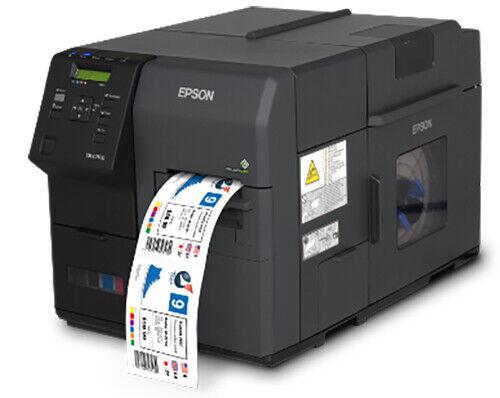 Epson TM-C7500GE Color Label Printer COLORWORKS USB ETHERNET WASATCH SOFTWARE