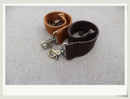 Dark Coffee Camel Cowhide Strap Handbag Part Unisex Leather Wide Handle 50-110cm