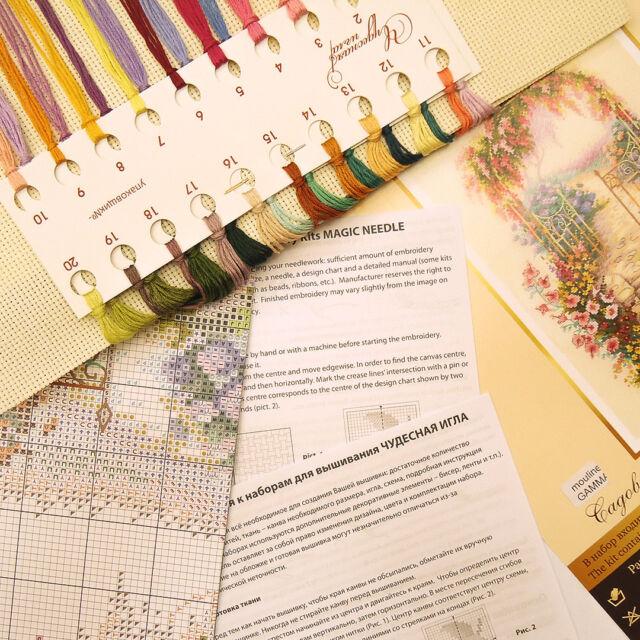WONDERFUL NEEDLE 110-001 Entrance to the Garden Cross Stitch Kit MAGIC NEEDLE