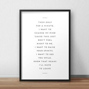 Details about Bastille & Marshmello Happier Lyrics INSPIRED WALL ART Print  / Poster A4 A3