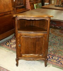 French-Oak-Louis-XV-Antique-Small-Corner-Cabinet