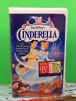 Walt Disney Cinderella Classic Factory Sealed Vhs Home Movie Video Tape