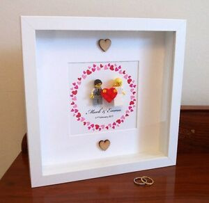 Image Is Loading Unique Personalised Lego Love Heart Wedding Anniversary Gift