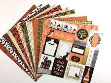 12x12 Cardstock Scrapbook Paper Lot 12 sheets Old Fashion Halloween Prints C34