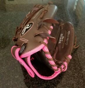 """Rawlings WFP 120 Fast pitch Softball Glove 12"""" Adult Brown Pink Right Hand Throw"""
