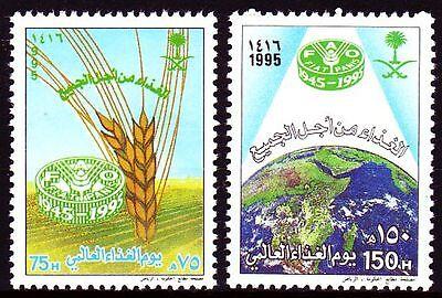 Briefmarken Saudi-arabien Saudi Arabia 1995 ** Mi.1235/36 Ernährung Food Fao Professionelles Design