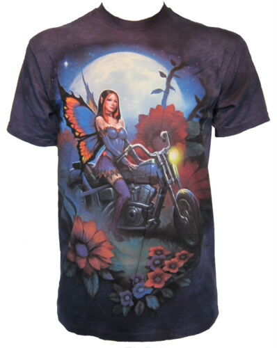 Biker Fairy The Mountain Fantasy Butterfly Angel Nymph Magic Motorbike T-Shirt