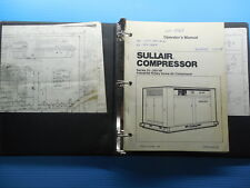 Sullair Industrial Rotary Screw Air Compressor Operators Manual And Parts List